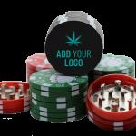 Custom Poker Chip Grinder Black with logo