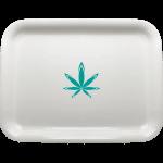Custom Medium Rolling Tray White with Logo