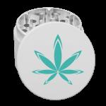 White Grinder Aluminum 50mm with Custom Logo