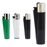 black white and green clipper lighter